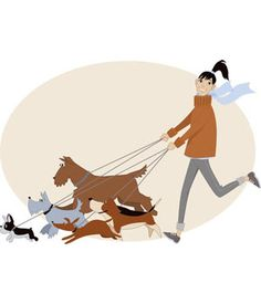 Perro clipart dog sitting Walker dog clipart cards grooming