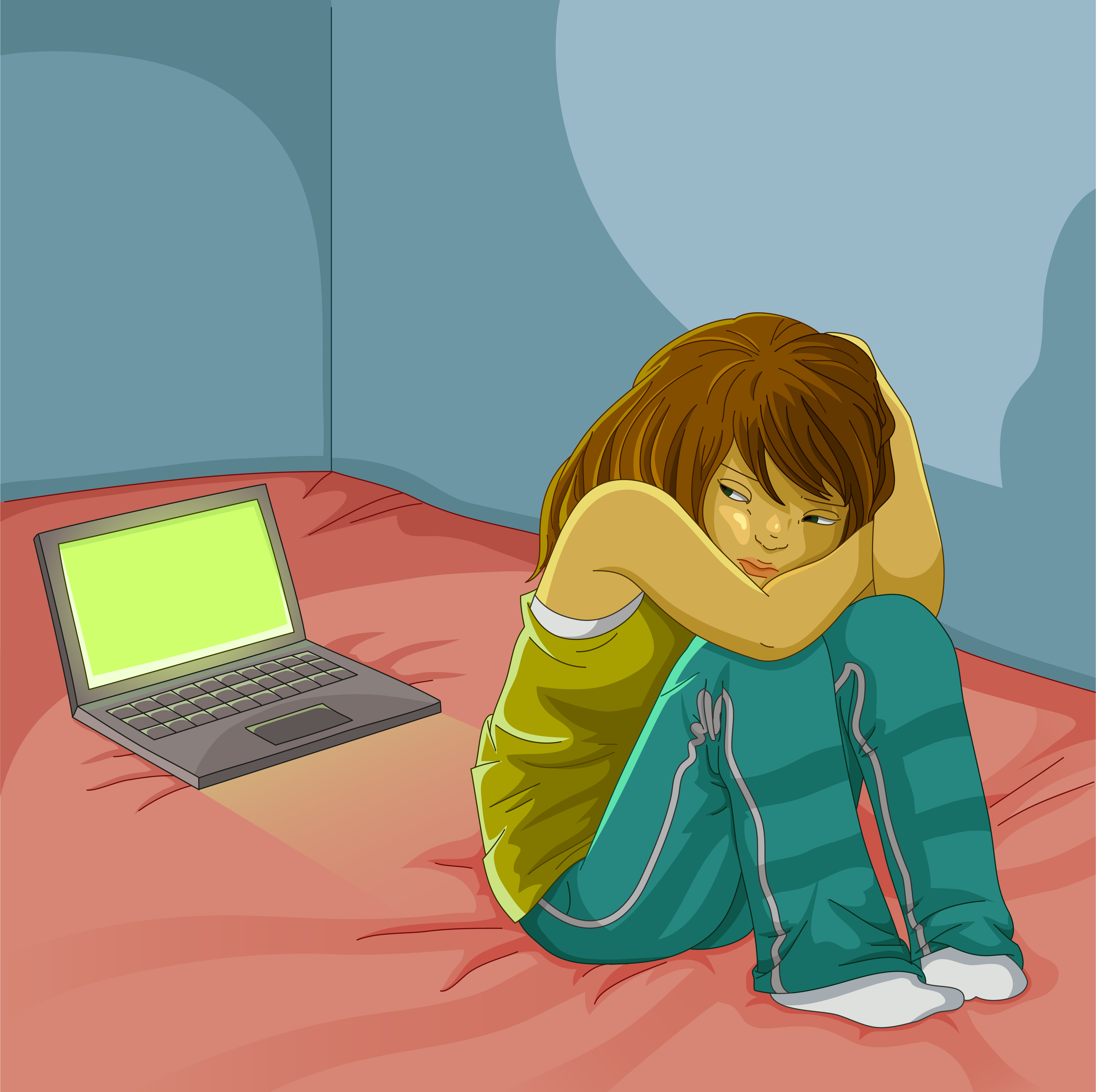 Alone clipart female depression  Mental Health? Social Media