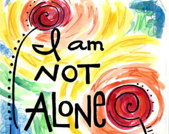 Alone clipart i am Alone Watercolor Not Prints Jesus