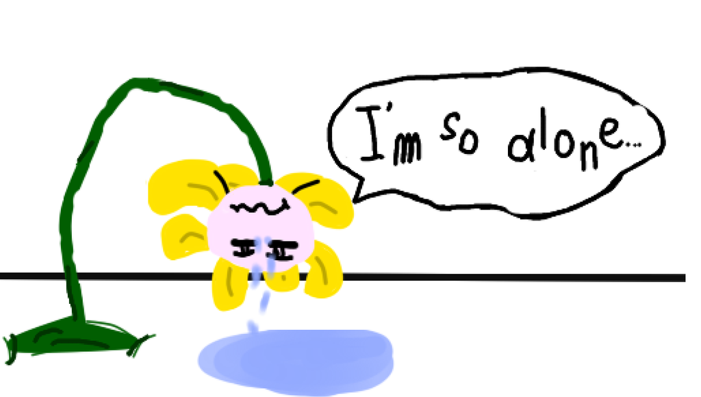 Alone clipart i am By DeviantArt Flowey I I