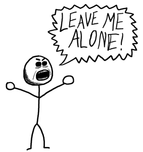 Alone clipart leave me Please leave alone me leave