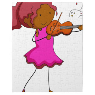 Alone clipart puzzle Jigsaw player puzzle Violin Zazzle