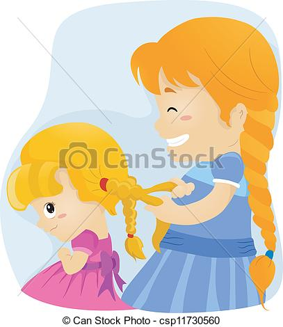 Braid clipart pigtail Clip clipart and Stock Art