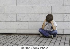 Alone clipart unhappy Grieving look his lonely child