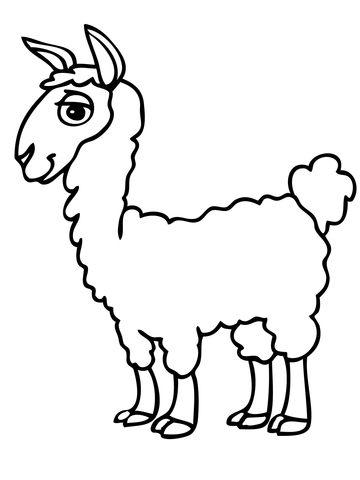 Alpaca clipart black and white See page of coloring Pages