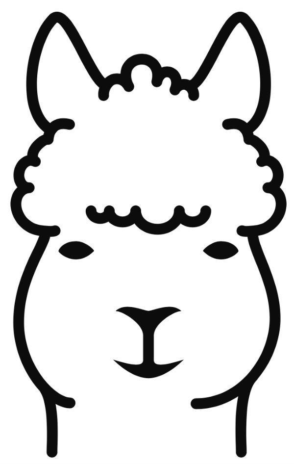 Alpaca clipart black and white Alpaca Alpaca Fibers – Love