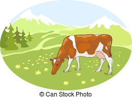Alps clipart White Alps 610  cow