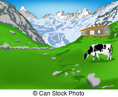 Alps clipart chalet And mountains Dairy royalty alps