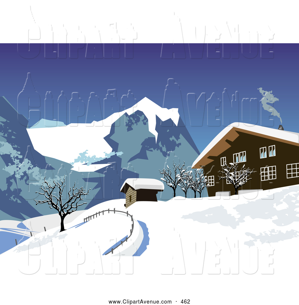 Alps clipart chalet Blue Alps Smoke Designs Swiss