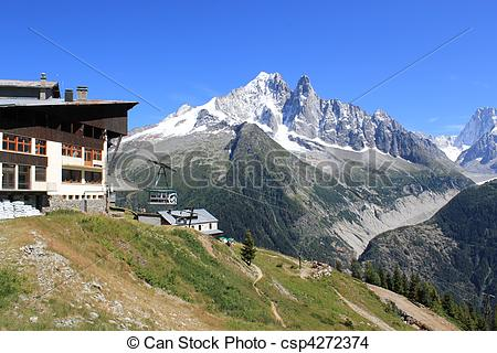 Alps clipart hill Blanc Alps France and Blanc