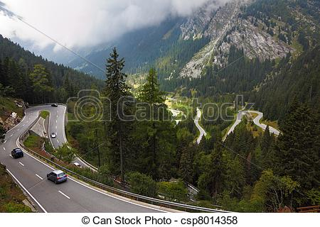 Alps clipart mountain sketch Illustration the Cars csp8014358 turn