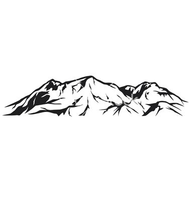Alps clipart mountain sketch Pinterest VectorStock® on Tribaliumvs by