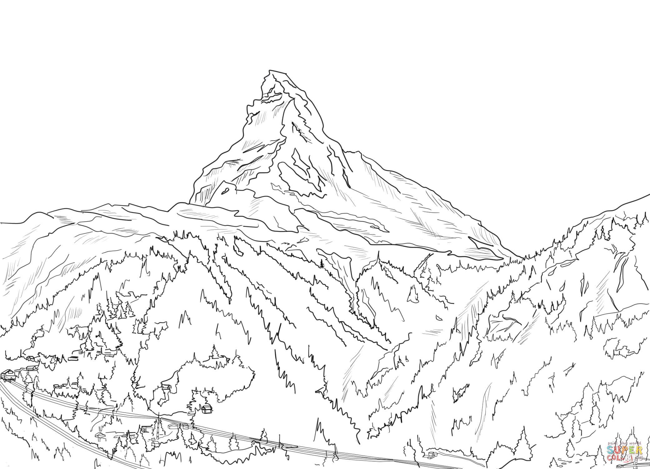 Alps clipart mountain sketch Mountain Alps drawings Download Mountain