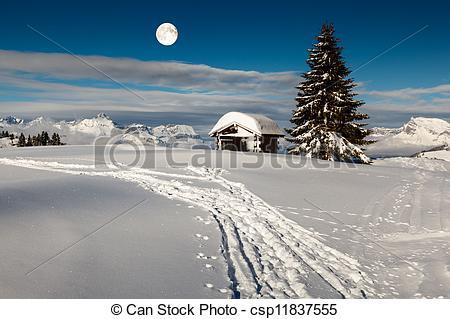 Alps clipart mountain tree  Moon the Stock Tree