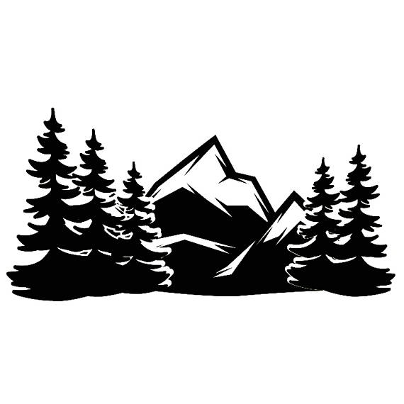 Alps clipart mountain tree  Side Nature Clipart Wilderness