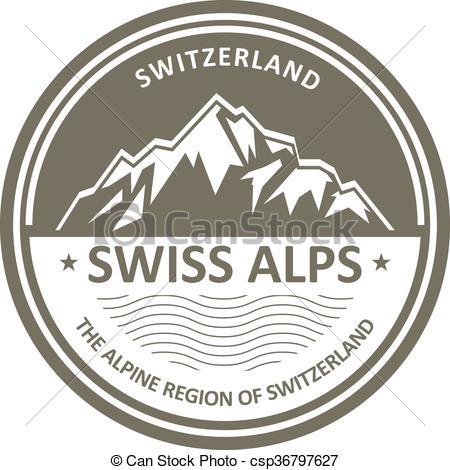 Peak clipart swiss alp Switzerland Alps emblem Swiss emblem