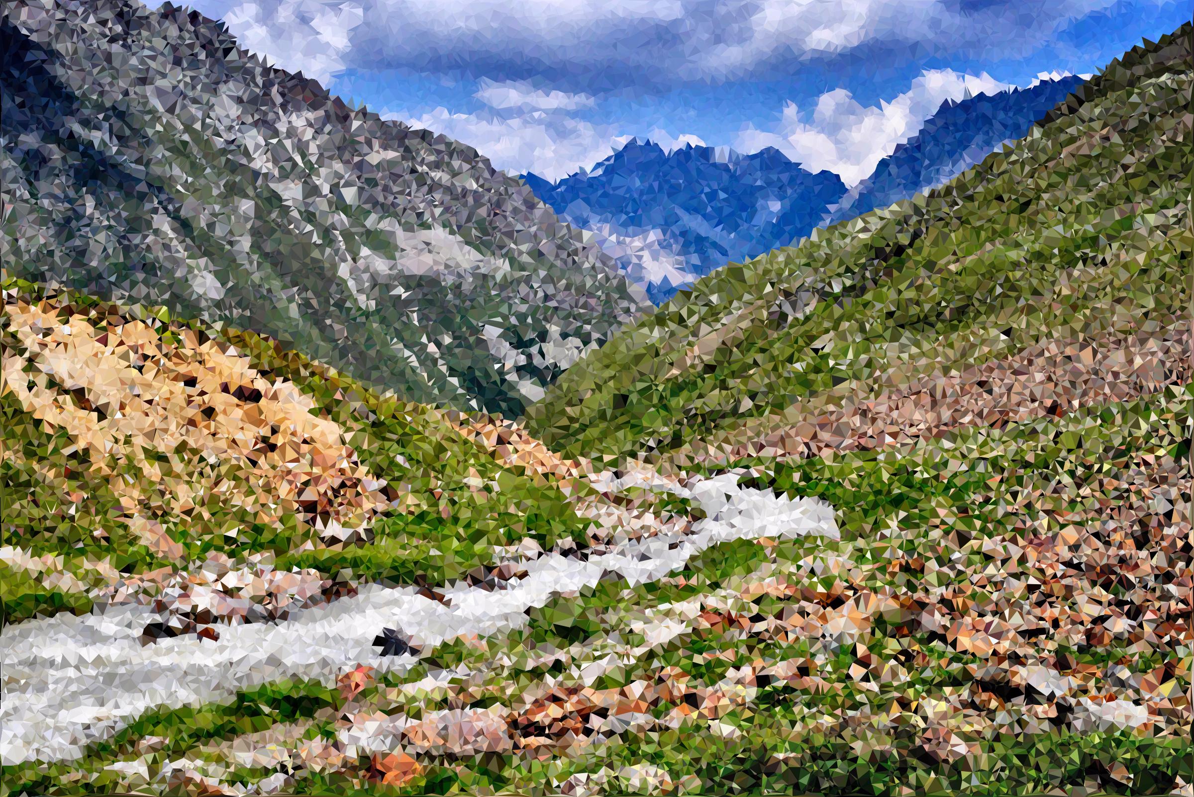 Alps clipart valley Austrian Alps Poly High Clipart