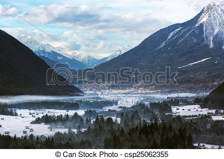 Alps clipart valley Wintery  Images Austrian valley