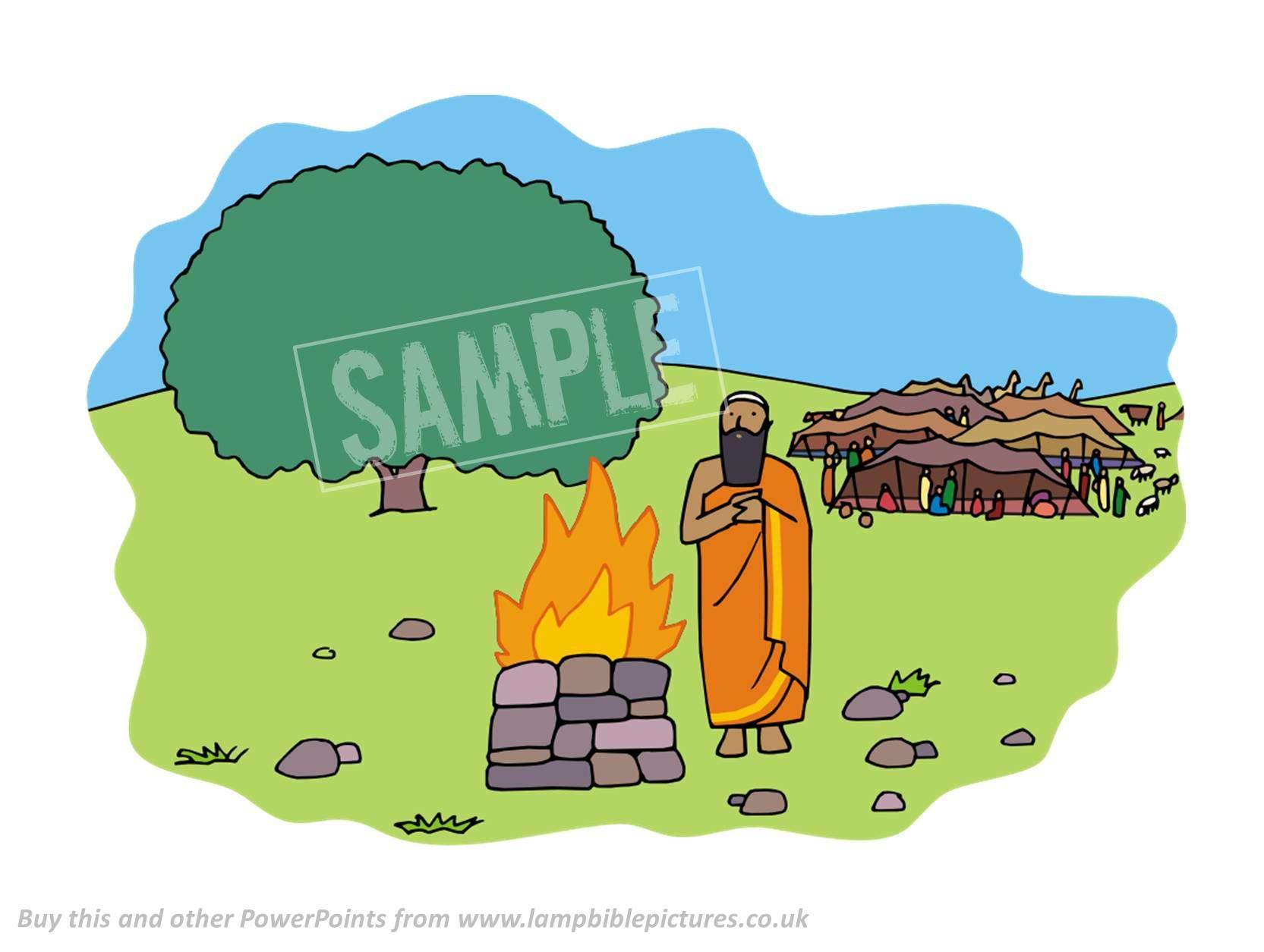 Altar clipart abraham Called builds Bible Lamp Abraham