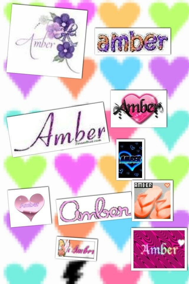 Amber clipart the name Clipart name Amber Amber collage