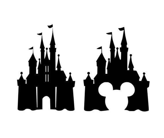 Amd clipart castle Svg  de svg Disney