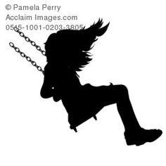 Amd clipart crayon Girl silhouette a Clip Art
