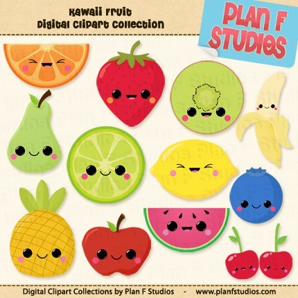 Amd clipart fruit Instant Clip Cute Kawaii Kawaii
