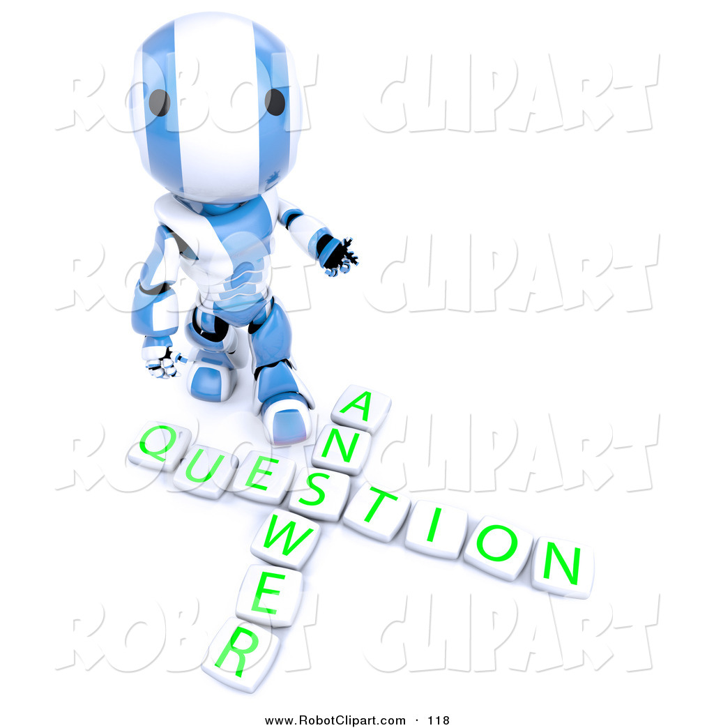 Amd clipart question Blocks 3D Spelling Royalty AO