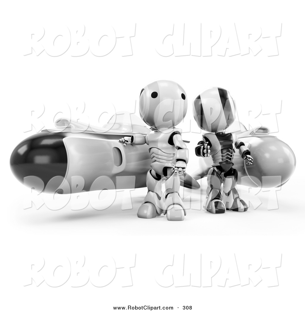Amd clipart rocket Team 3D Robots Royalty and