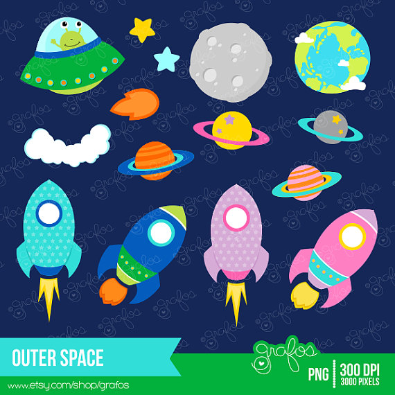 Amd clipart rocket Space Astronaut Mural grafos Planets
