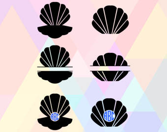 Amd clipart shell Cricut Seashell Svg Seashell Svg