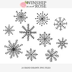 Drawn snowflake cute Drawn drawn hand in Overlays