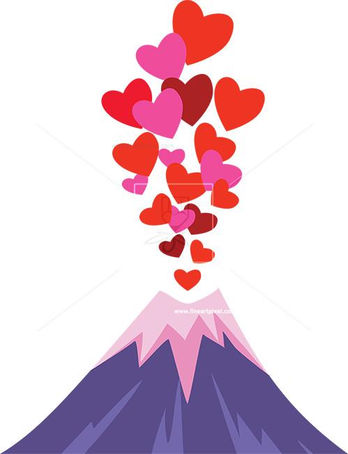 Amd clipart volcano Abstract com Love Fineartpixel Illustrations