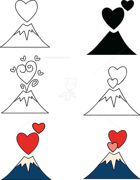 Amd clipart volcano Symbols Fineartpixel Love – Art