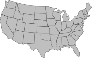 America clipart  States Map at America