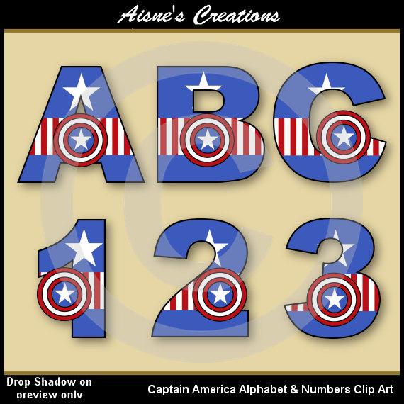 America clipart avenger (Avengers) Avengers Alphabet art clip