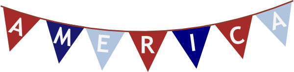 America clipart banner Clip Clker Banner America at