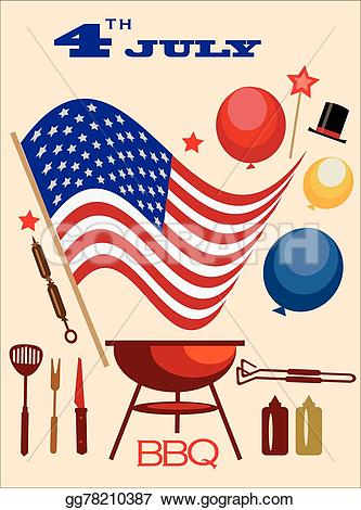 America clipart bbq EPS Stock day Vector