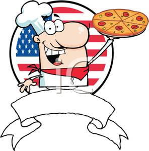 America clipart cartoon Colorful an Winning Pizza of