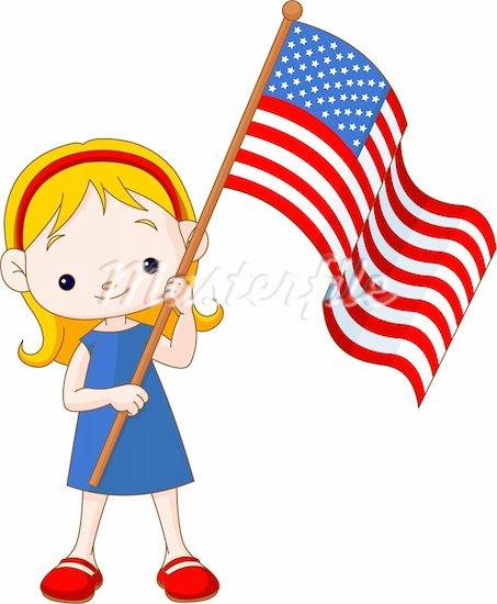 America clipart cartoon American Clip flag Flag Cartoon