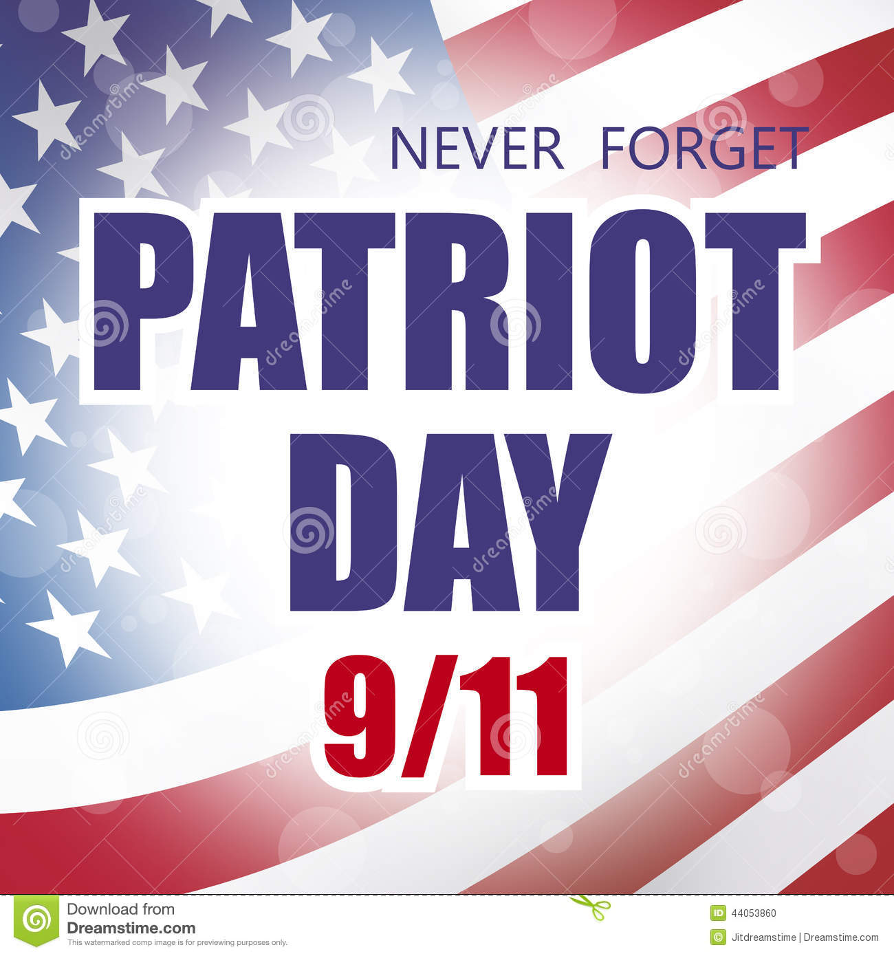 America clipart patriot day Patriot collection patriot day Stock