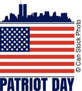 America clipart patriot day  Patriot New York Illustrations