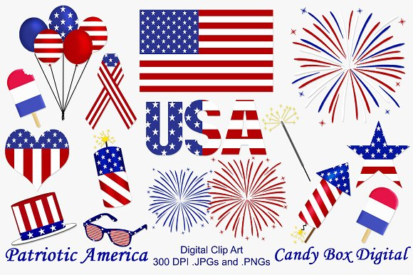 America clipart patriotism Illustrations America Clip Art on
