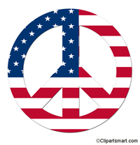 America clipart peace sign Clip Fourth Of July Clip