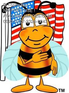 America clipart pledge allegiance Honey Saying Illustration: Flag or