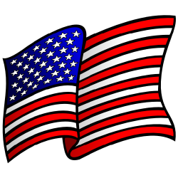 Political clipart american flag Art Waving free American Clipartix