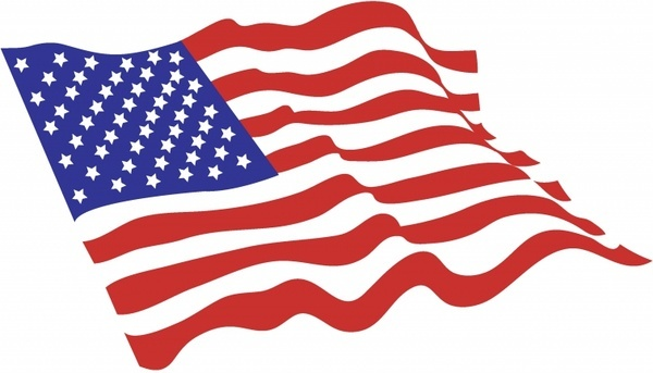 American Flag clipart 542 free free  vector