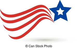 American Flag clipart american star Star icon of Vector flag