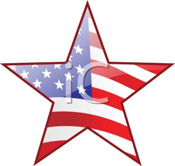 American Flag clipart american star Of Star star Flag With