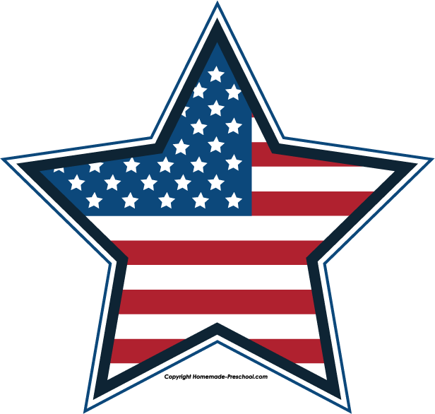 American Flag clipart american star To Image 4th July Free